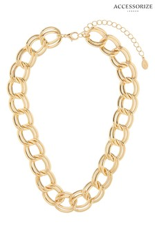 Accessorize Chunky Double-Layer Chain Necklace