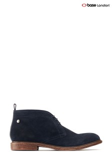 Base London® Blue Jasper Suede Lace-Up Boots