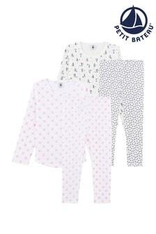 Petit Bateau White Printed Pyjamas Two Pack