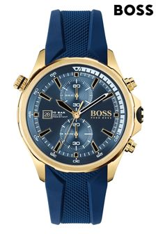 BOSS Globetrotter Silicone Strap Watch