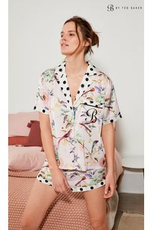 B by Ted Baker Satin Button Through Short Pyjama Set