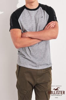 Hollister Grey Raglan T-Shirt