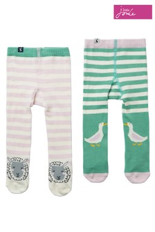 Joules Pink Anikins Tights Two Pack