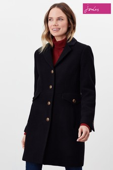 Joules Black Windsor Hacking Coat