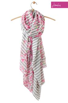 Joules Blossom Hope Stripe Harmony Large Woven Scarf