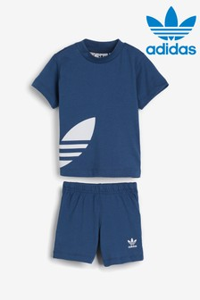 adidas Originals Infant Navy Trefoil T-Shirt And Short Set