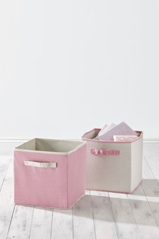 Set of 2 Storage Cubes