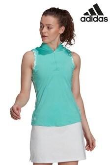 adidas Golf Ultimate 365 Print Sleeveless Polo Shirt