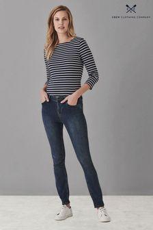 Crew Clothing Skinny-Jeans, Blau