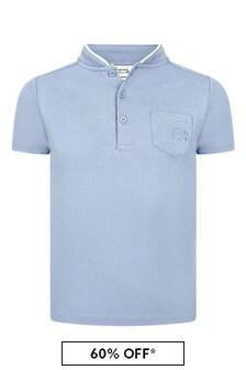 Bonpoint Boys Blue Cotton Poloshirt