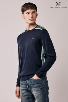 Crew Clothing Blue Calder Crew Neck Jumper