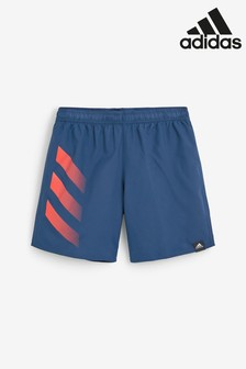adidas Navy Side Stripe Swim Shorts