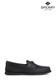 Sperry Black Authentic Original Leather Boat Shoes