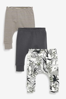 3 Pack Stretch Animal Leggings (0mths-3yrs)