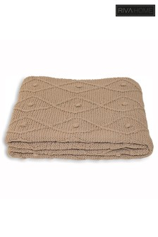 Argyll Chunky Knit Throw by Riva Home
