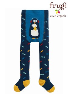 Frugi Fish And Penguin Crawl Away Tights