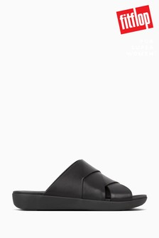 FitFlop™ Black Annah Novaweave Slide Sandals