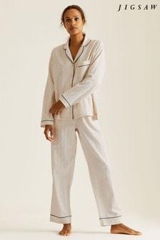 Jigsaw Cream Sadie Herringbone Pyjamas