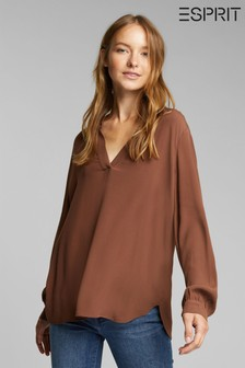 Esprit Brown Long Sleeve Relax Blouse