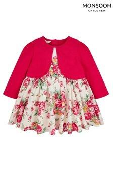 Monsoon Children Red Baby Petunia Cardigan Dress