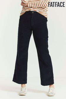 FatFace Blue Cord Wide Leg Trousers