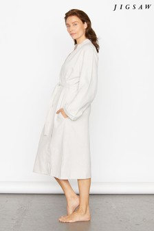 Jigsaw Grey Sadie Herringbone Robe