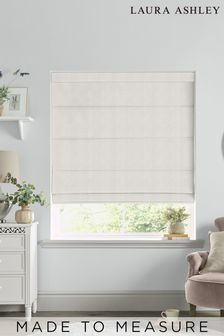 Laura Ashley Cream Swanson Oyster Made to Measure Roman Blind