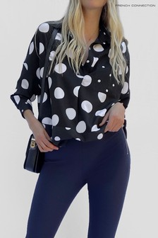 French Connection Alanga Dotty Popover Shirt