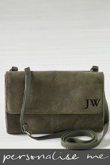 Personalised Suede Cross Body Bag