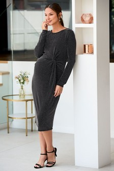 Maternity Metallic Bodycon Dress