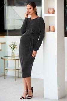 Maternity Metallic Bodycon Dress
