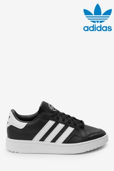 adidas Originals Black/White Court Novice Youth Trainers