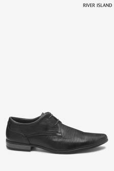 River Island Black Reggae Formal Point Shoes