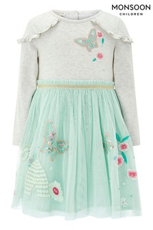 Monsoon Green Baby Bea Disco Dress