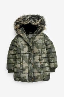Shower Resistant Printed Padded Jacket (3-16yrs)