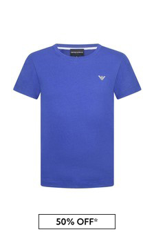 Boys Cotton Blue Top