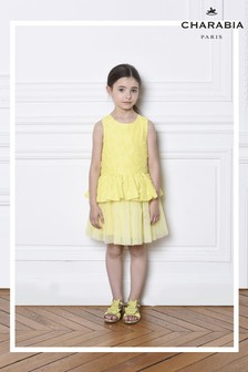 Charabia Yellow Butterfly Dress