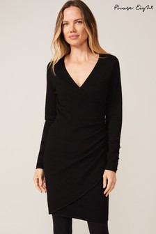 Phase Eight Black Maisie Wrap Dress