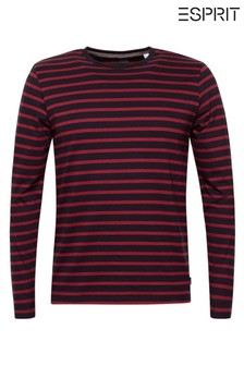 Esprit Navy Stripe Long Sleeve Jersey Top