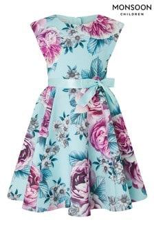 Monsoon Blue Leena Print Dress