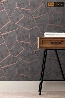 UK Marblesque Fractal Wallpaper by Fine Décor