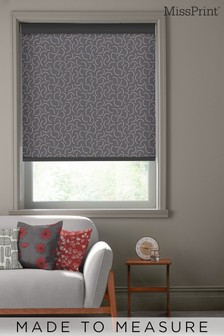 Tarn Jet Black Made To Measure Roller Blind by MissPrint