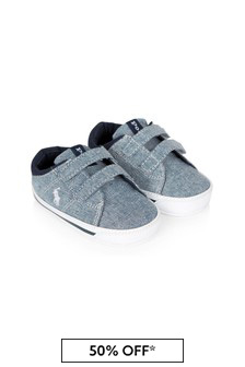 Ralph Lauren Kids Baby Boys Blue Elmwood Trainers