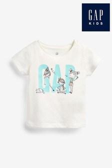 Gap White Logo Graphic T-Shirt