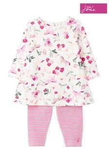 Joules Pink Christina Dress & Leggings Set