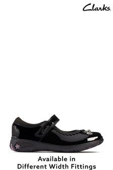 Clarks Black Sea Shimmer Shoes