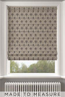 Hallam Pewter Natural Made To Measure Roman Blind