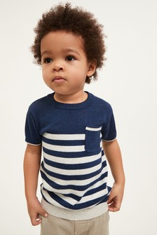 Knitted Stripe T-Shirt (3mths-7yrs)