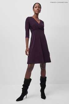 French Connection Leticia Slinky Jersey Fit N Flare Dress