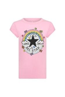Converse Girls Pink Cotton T-Shirt